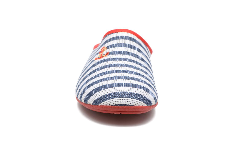 Chaussons Rondinaud Midouze Bleu vue portées chaussures