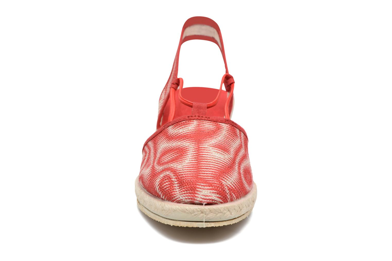 Espadrilles Rondinaud Sambre Rouge vue portées chaussures