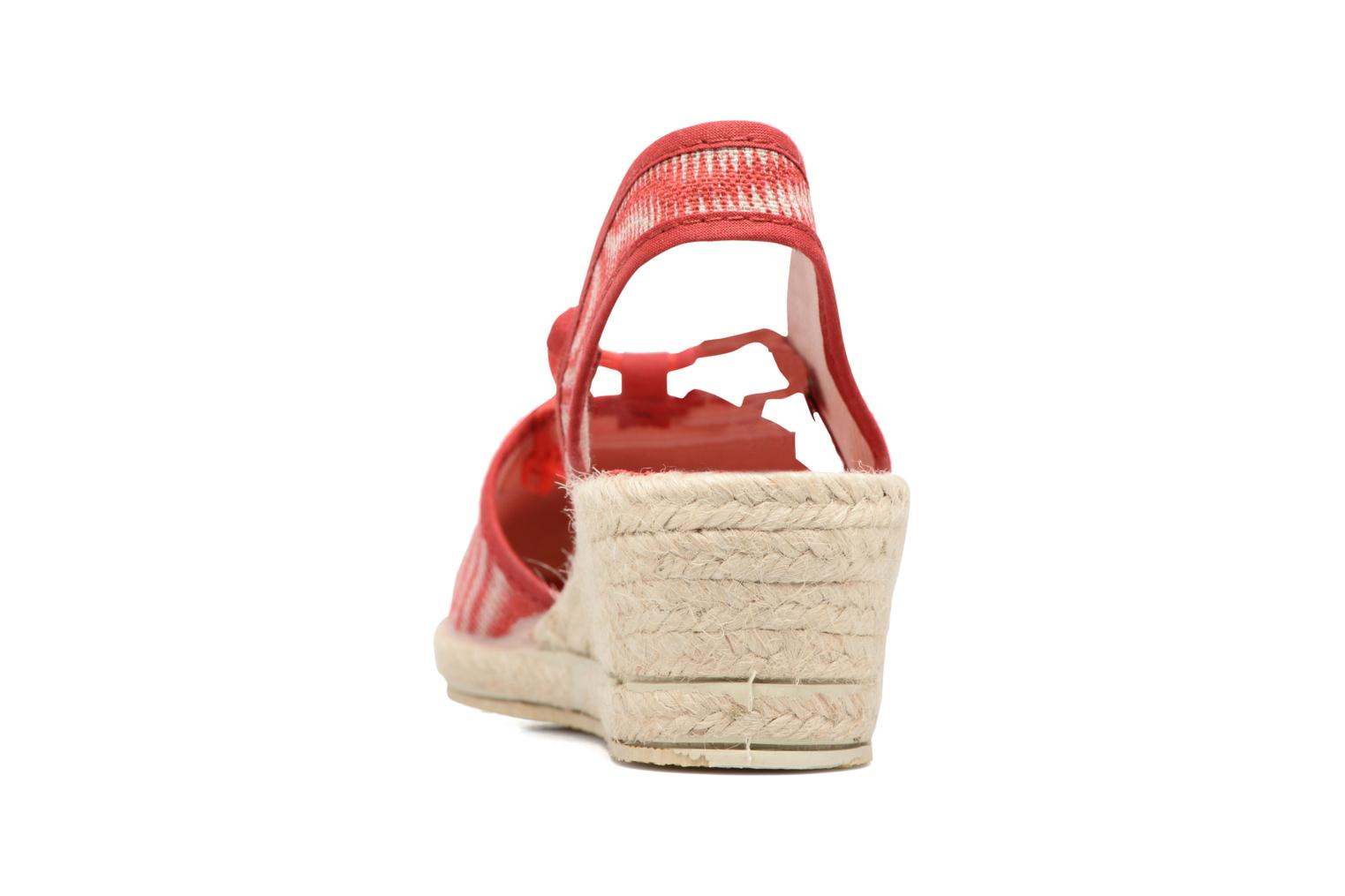Espadrilles Rondinaud Sambre Red view from the right