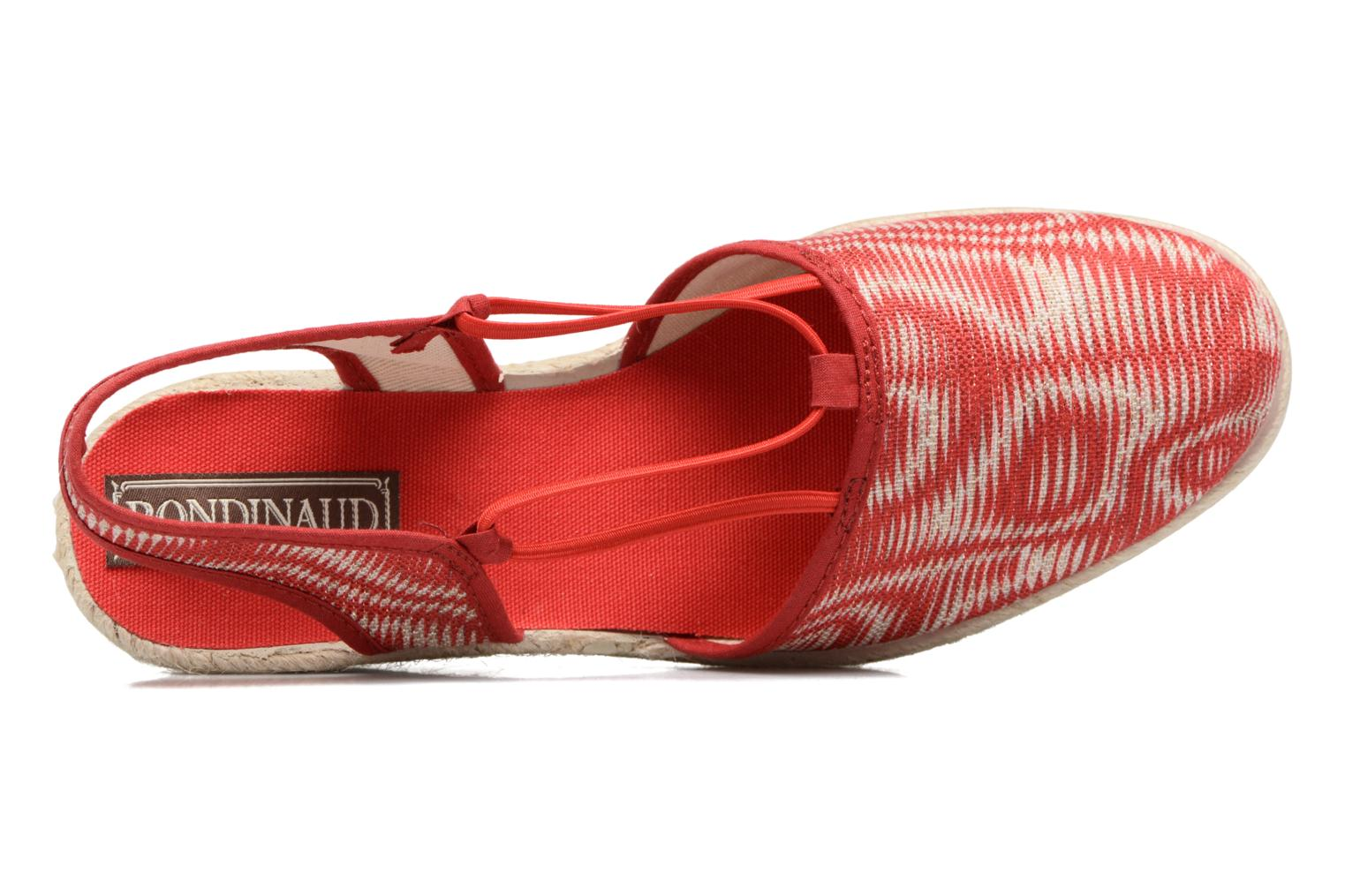 Espadrilles Rondinaud Sambre Red view from the left