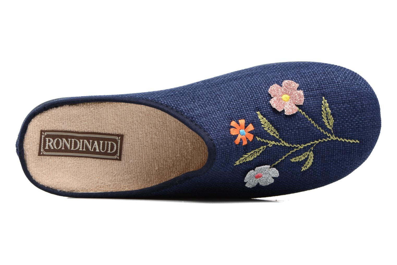 Pantoffels Rondinaud Semoy Blauw links