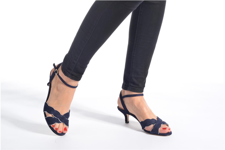 Sandales et nu-pieds Georgia Rose Expato Rouge vue bas / vue portée sac
