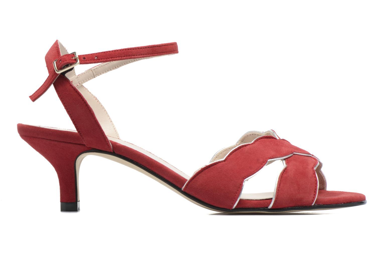 Sandales et nu-pieds Georgia Rose Expato Rouge vue derrière