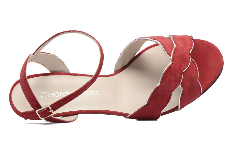 Sandales et nu-pieds Georgia Rose Expato Rouge vue gauche