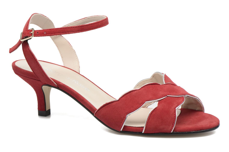 Sandales et nu-pieds Georgia Rose Expato Rouge vue détail/paire