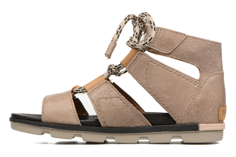 Sandales et nu-pieds Sorel Torpeda lace II Beige vue face
