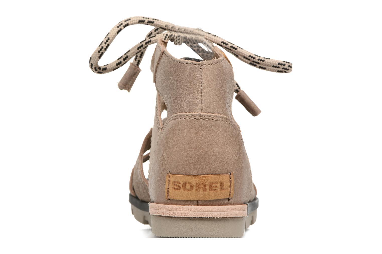 Sandales et nu-pieds Sorel Torpeda lace II Beige vue droite