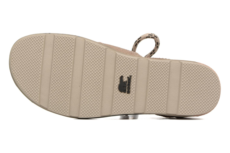 Sandales et nu-pieds Sorel Torpeda lace II Beige vue haut