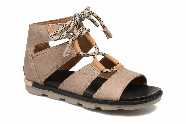 Sandales et nu-pieds Sorel Torpeda lace II Beige vue détail/paire