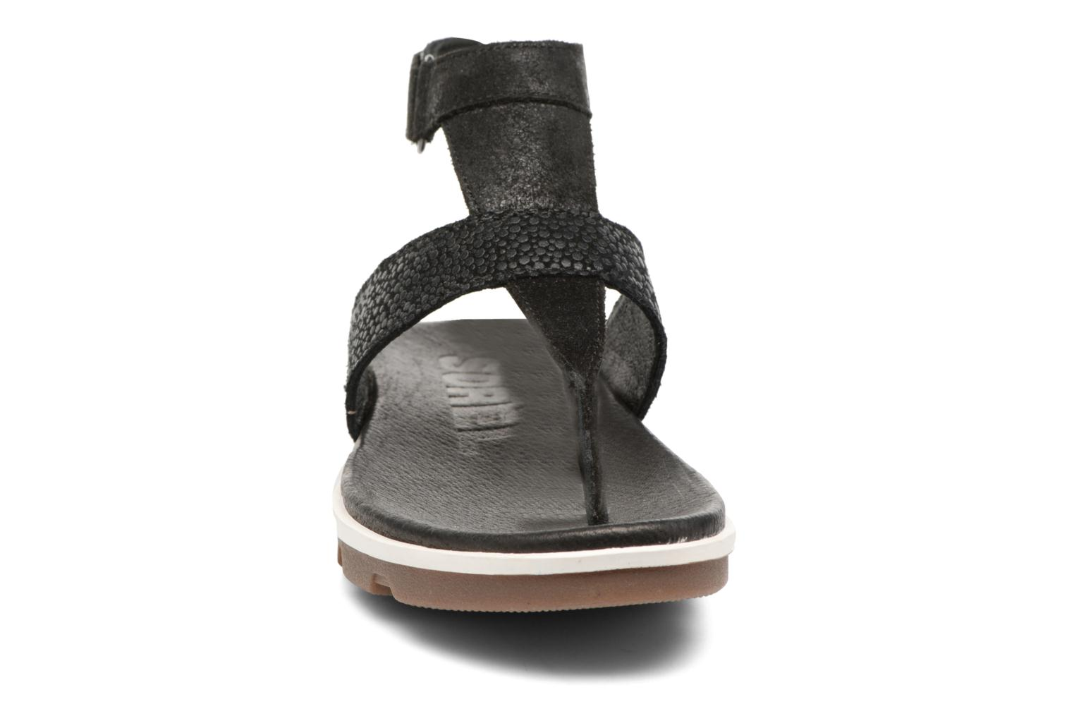 Sandals Sorel Torpeda Ankle Strap Black model view