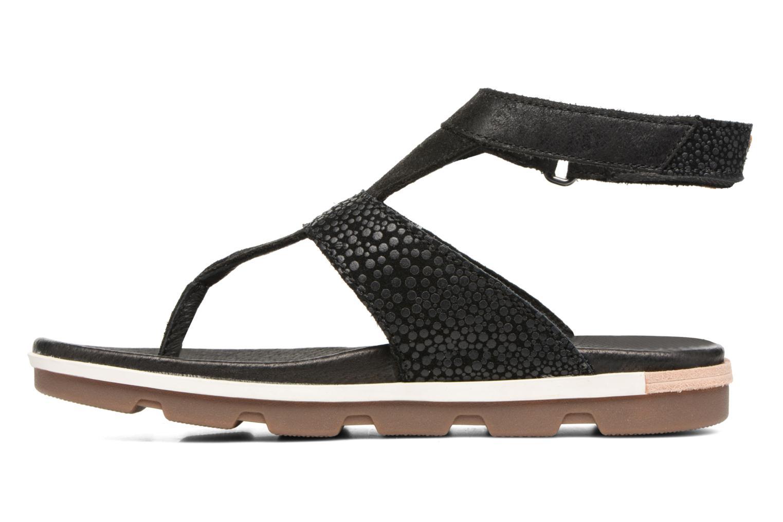 Sandales et nu-pieds Sorel Torpeda Ankle Strap Noir vue face