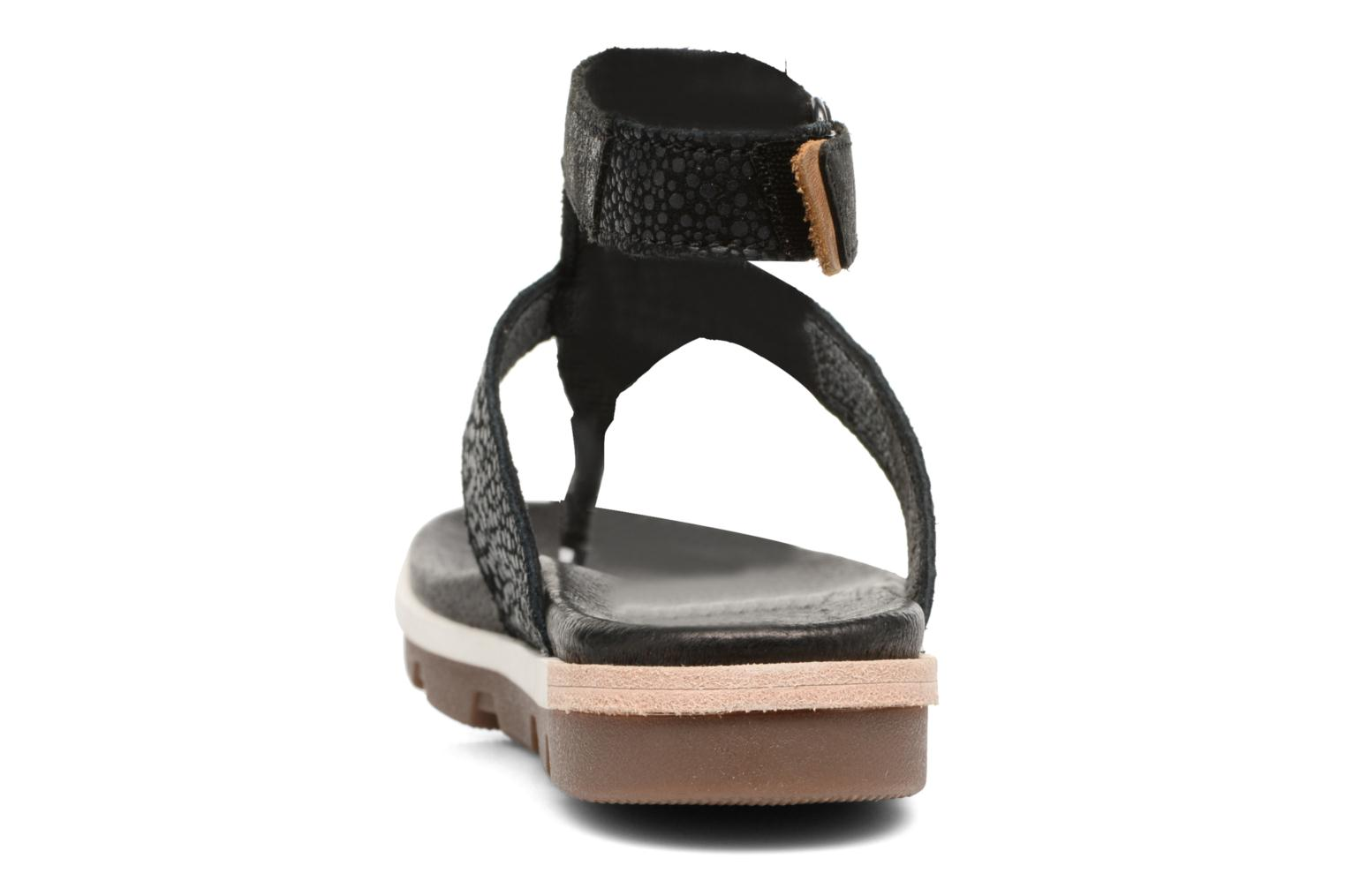 Sandals Sorel Torpeda Ankle Strap Black view from the right