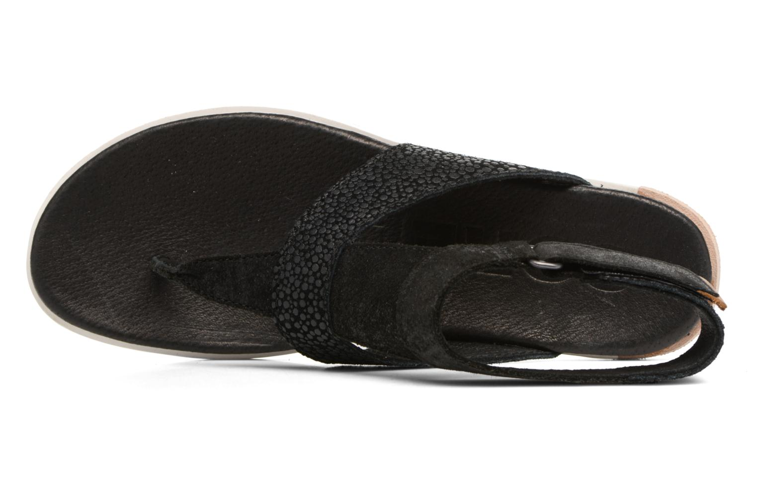 Sandals Sorel Torpeda Ankle Strap Black view from the left
