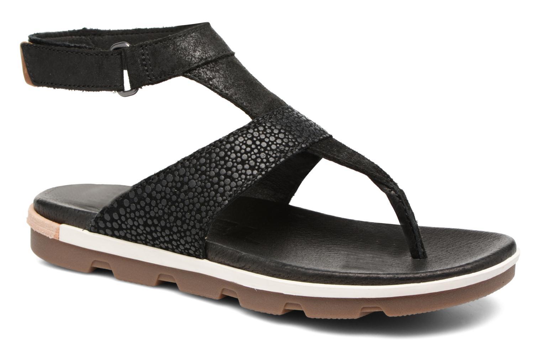 Sandales et nu-pieds Sorel Torpeda Ankle Strap Noir vue détail/paire