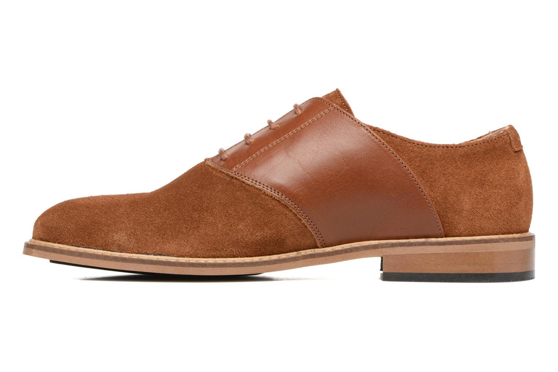 Chaussures à lacets M. Moustache Maurice Marron vue face