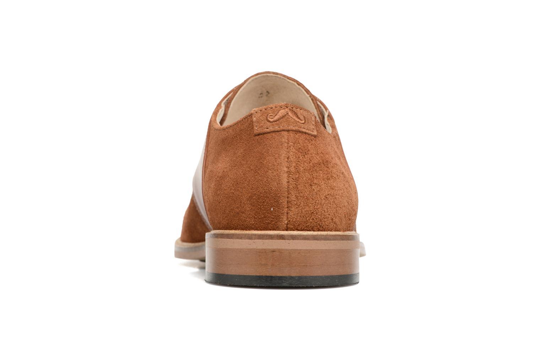 Chaussures à lacets M. Moustache Maurice Marron vue droite