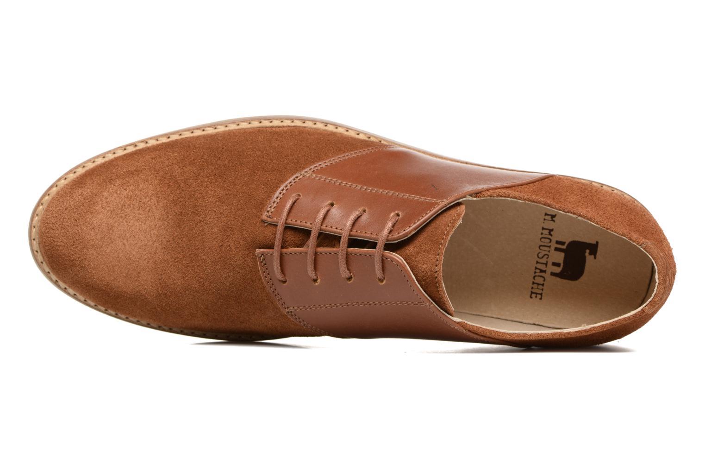 Chaussures à lacets M. Moustache Maurice Marron vue gauche