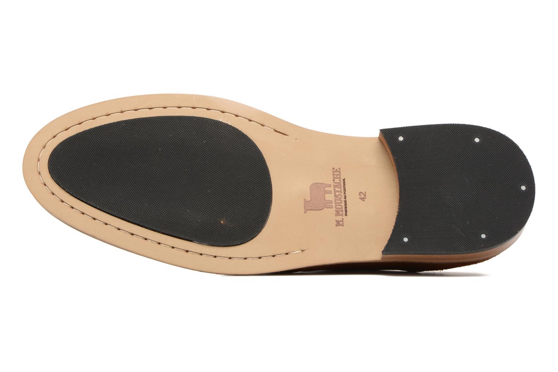 Chaussures à lacets M. Moustache Maurice Marron vue haut
