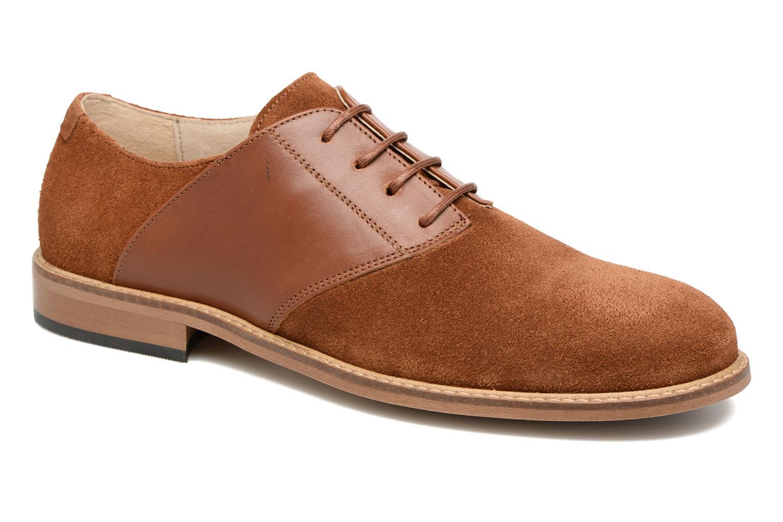 Chaussures à lacets M. Moustache Maurice Marron vue détail/paire
