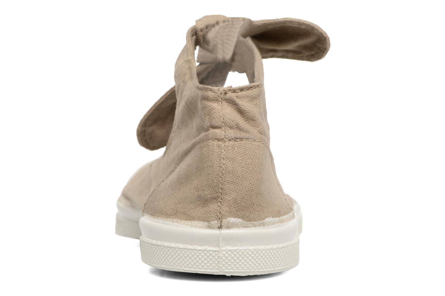 Ballet pumps Bensimon Tennis Flo Beige view from the right