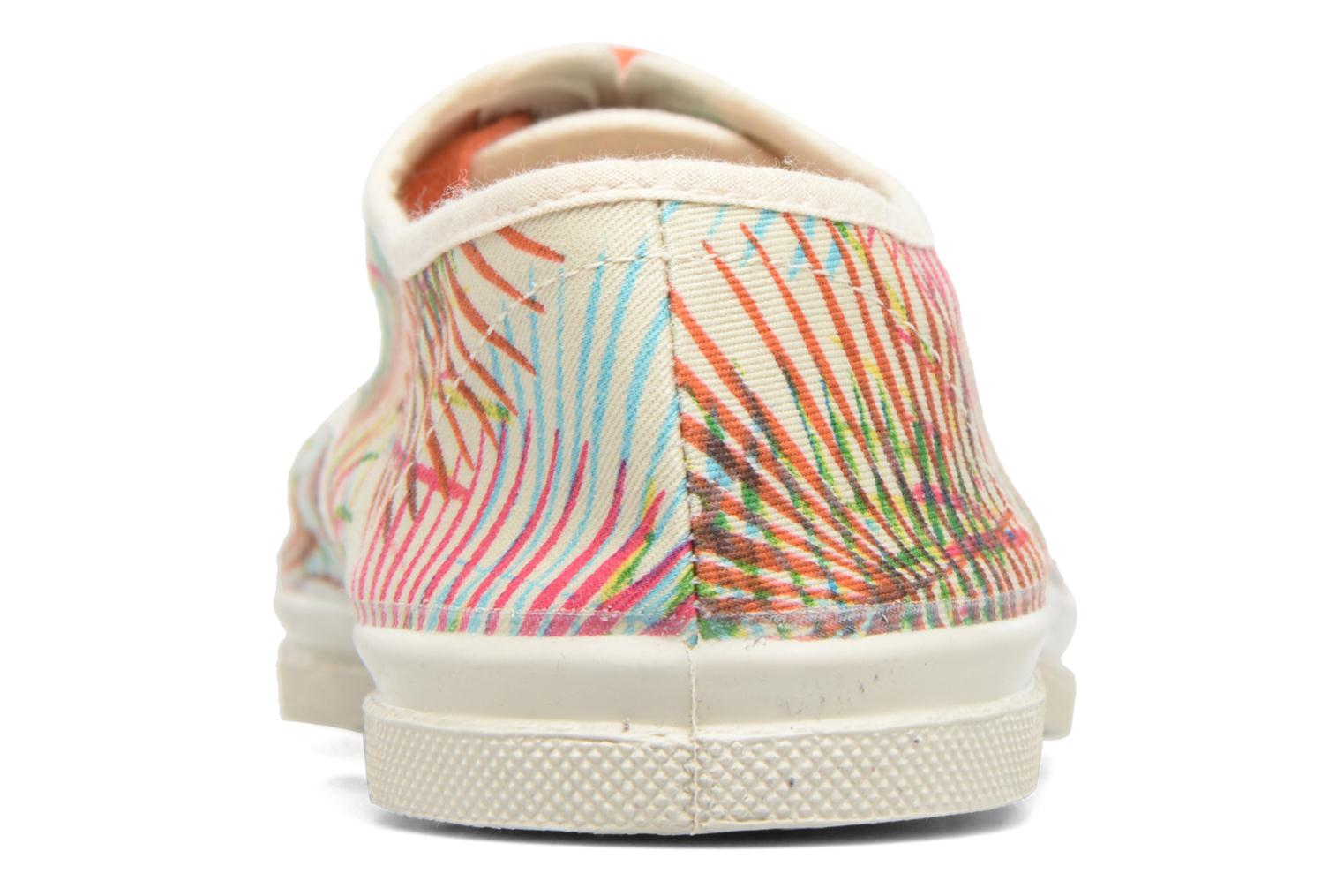 Trainers Bensimon Tennis Feuilles Exotiques Multicolor view from the right