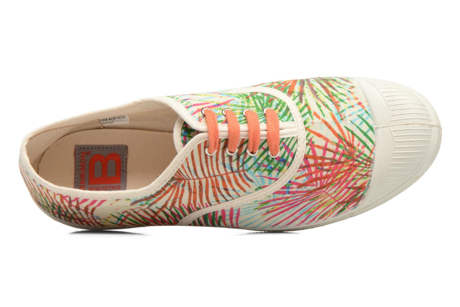 Trainers Bensimon Tennis Feuilles Exotiques Multicolor view from the left