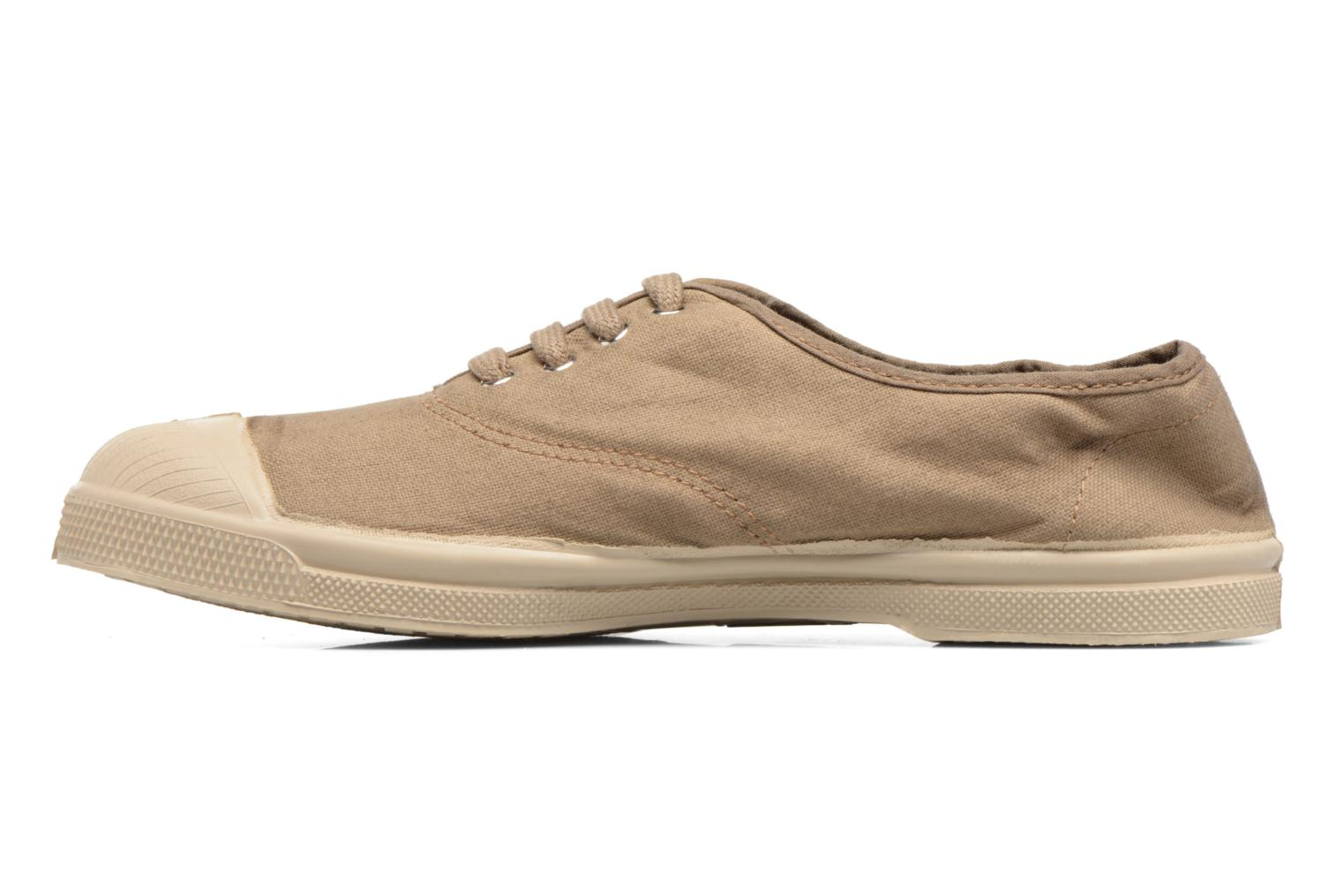 Baskets Bensimon Tennis Militaire Marron vue face