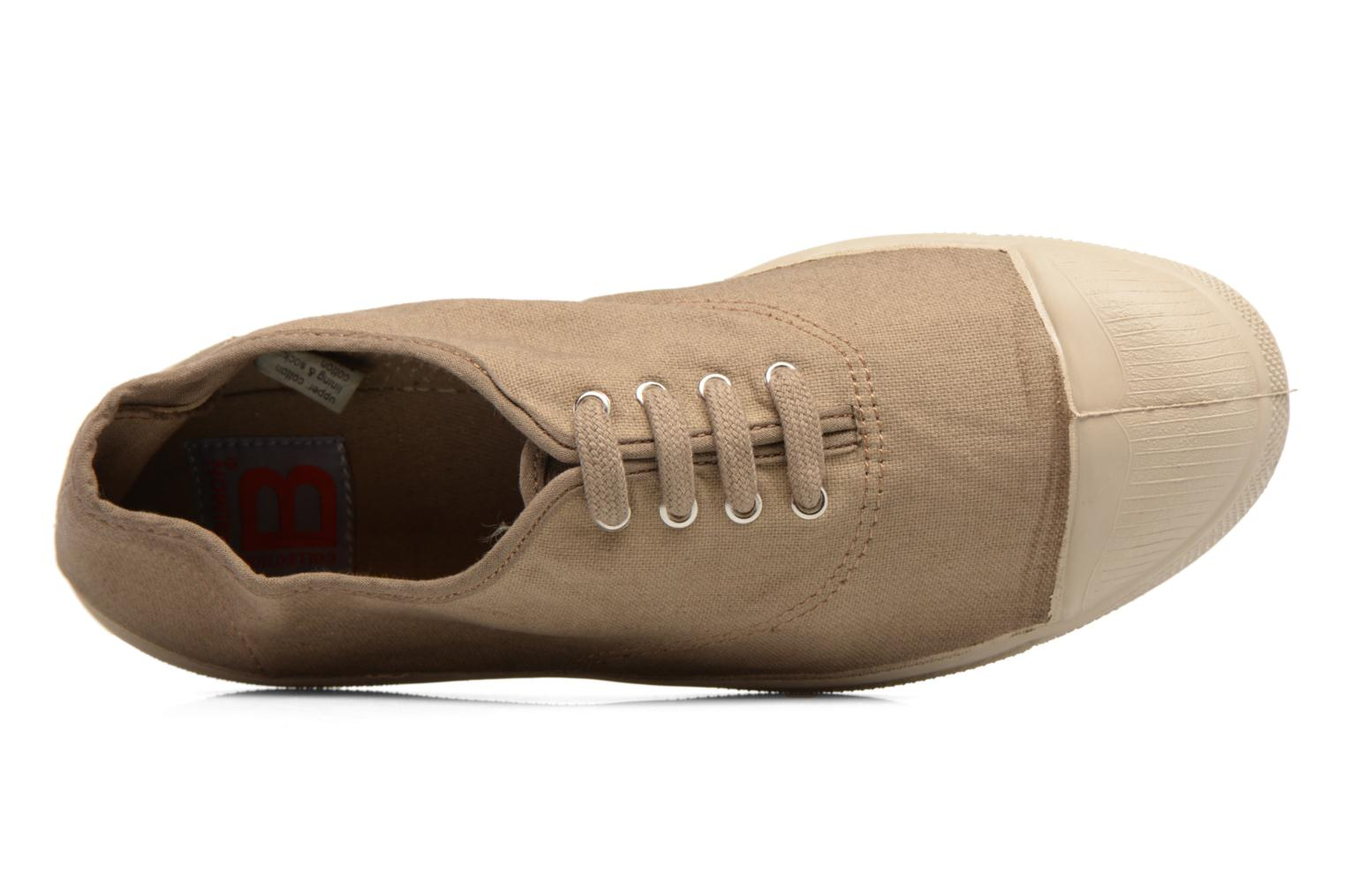 Trainers Bensimon Tennis Militaire Brown view from the left