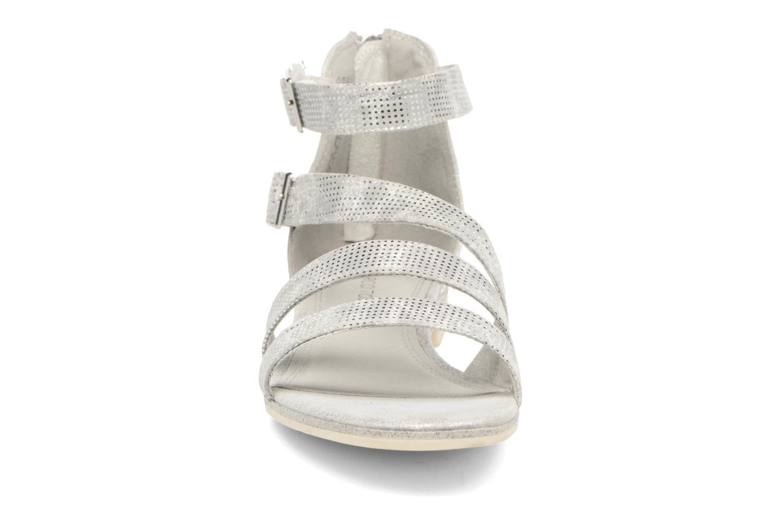 Sandales et nu-pieds Marco Tozzi Meko Argent vue portées chaussures