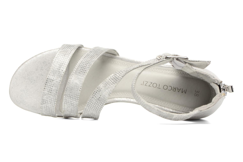Sandales et nu-pieds Marco Tozzi Meko Argent vue gauche