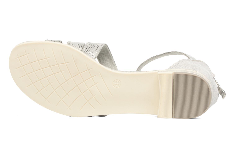 Sandales et nu-pieds Marco Tozzi Meko Argent vue haut