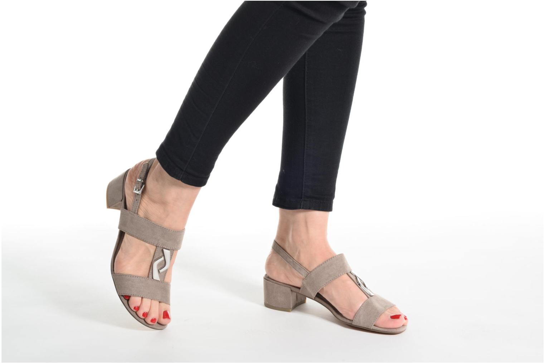 Sandales et nu-pieds Marco Tozzi Nyla Marron vue bas / vue portée sac
