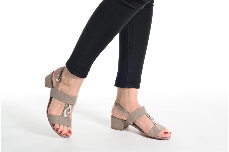 Sandales et nu-pieds Marco Tozzi Nyla Bleu vue bas / vue portée sac