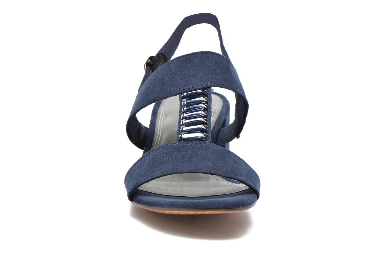 Sandales et nu-pieds Marco Tozzi Nyla Bleu vue portées chaussures