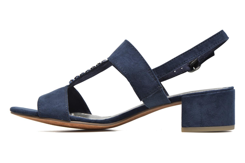 Sandales et nu-pieds Marco Tozzi Nyla Bleu vue face