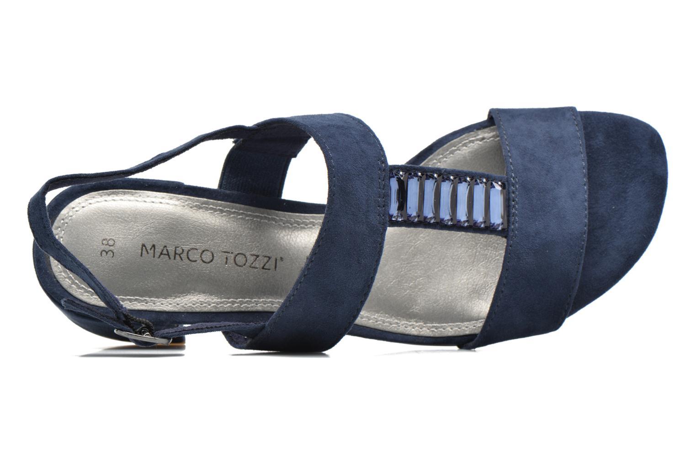 Sandales et nu-pieds Marco Tozzi Nyla Bleu vue gauche