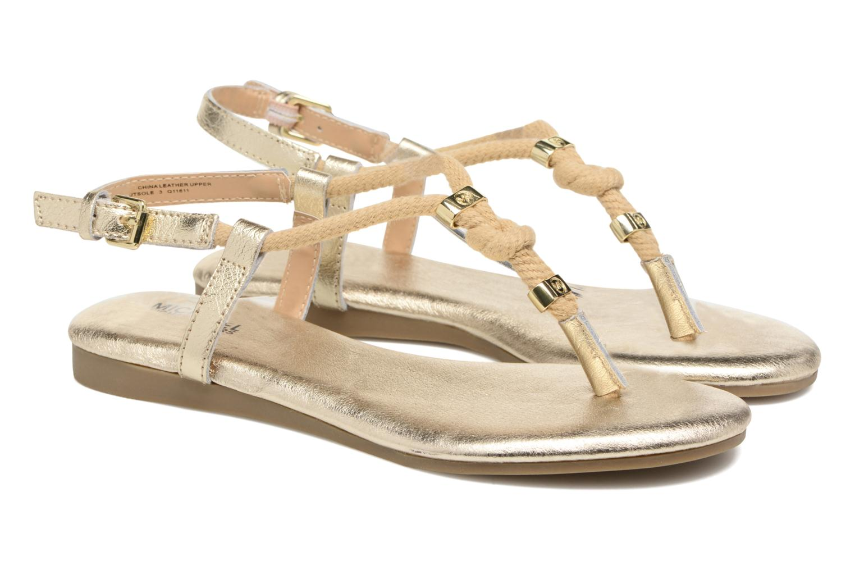 Sandales et nu-pieds Michael Michael Kors Zia-Demi Holly Or et bronze vue 3/4