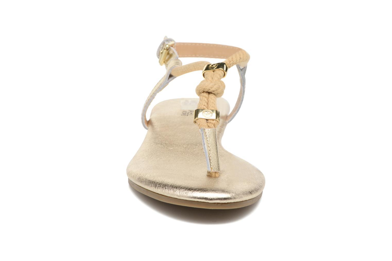 Sandales et nu-pieds Michael Michael Kors Zia-Demi Holly Or et bronze vue portées chaussures