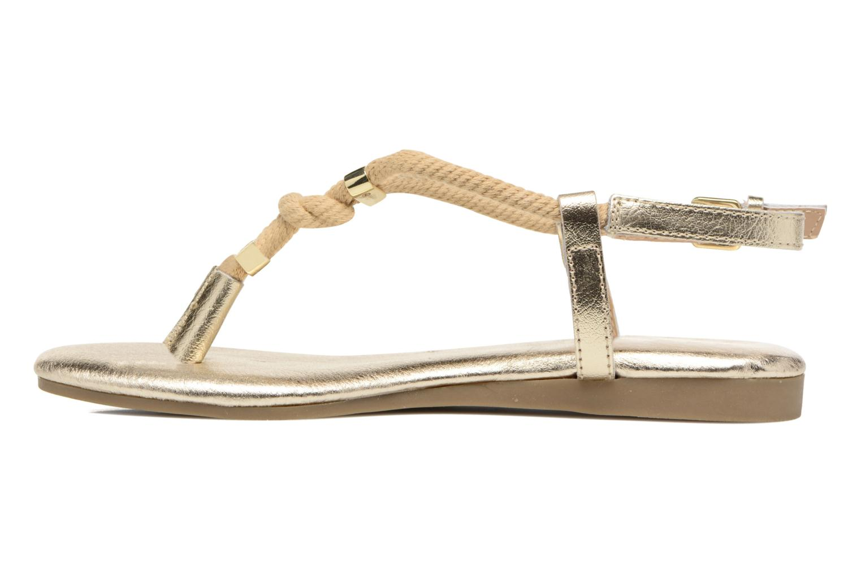Sandales et nu-pieds Michael Michael Kors Zia-Demi Holly Or et bronze vue face