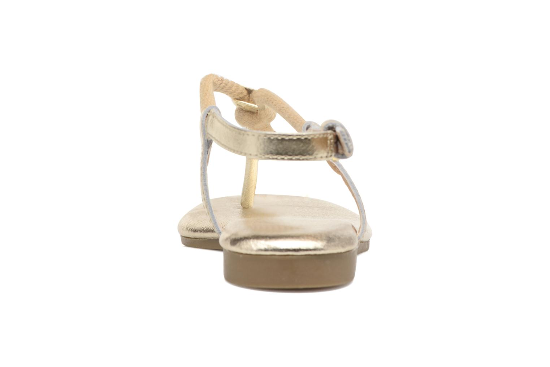 Sandales et nu-pieds Michael Michael Kors Zia-Demi Holly Or et bronze vue droite