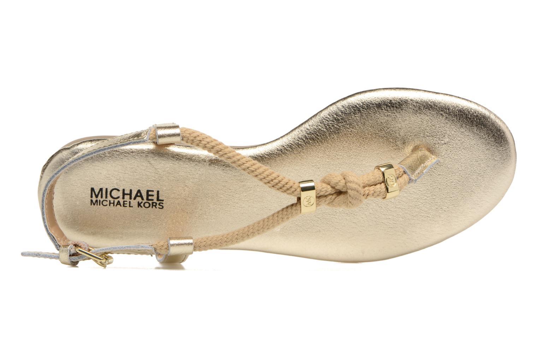Sandales et nu-pieds Michael Michael Kors Zia-Demi Holly Or et bronze vue gauche