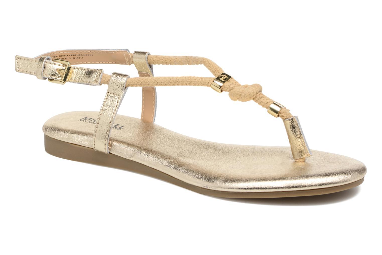 Sandales et nu-pieds Michael Michael Kors Zia-Demi Holly Or et bronze vue détail/paire