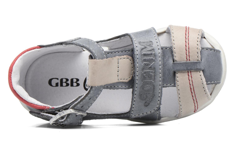 Sandales et nu-pieds GBB Patient Gris vue gauche