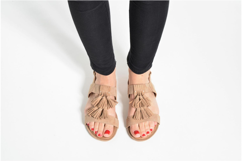 Sandales et nu-pieds Hush Puppies Gandy Bleu vue bas / vue portée sac