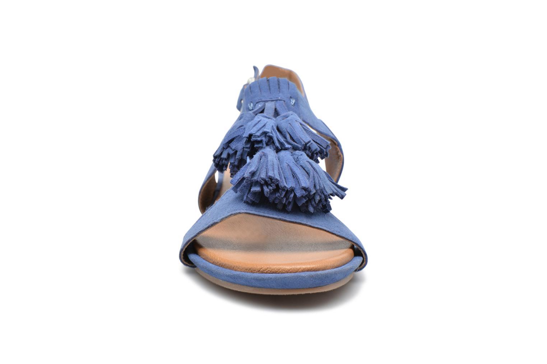 Sandales et nu-pieds Hush Puppies Gandy Bleu vue portées chaussures