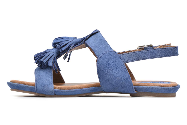 Sandales et nu-pieds Hush Puppies Gandy Bleu vue face