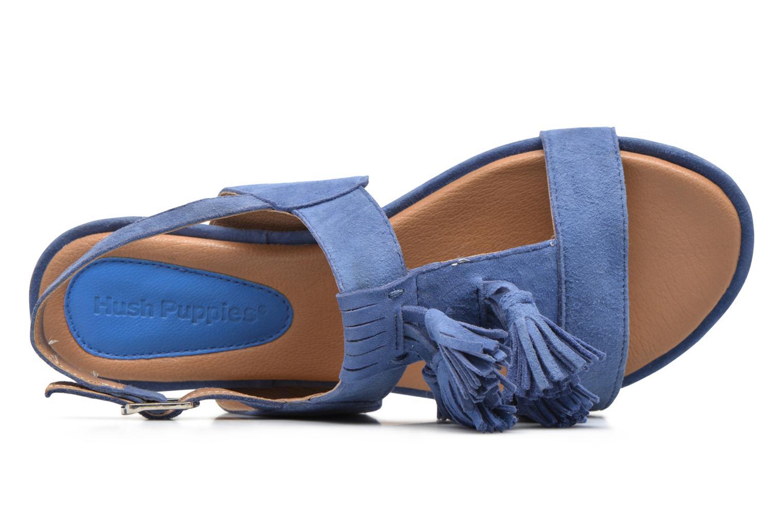 Sandales et nu-pieds Hush Puppies Gandy Bleu vue gauche