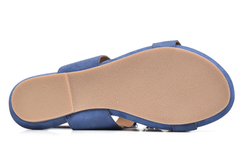 Sandales et nu-pieds Hush Puppies Gandy Bleu vue haut