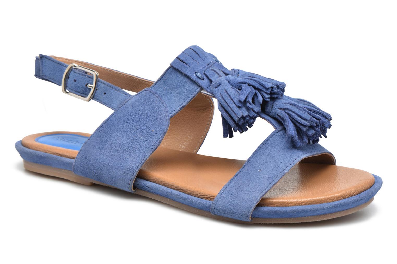 Sandales et nu-pieds Hush Puppies Gandy Bleu vue détail/paire