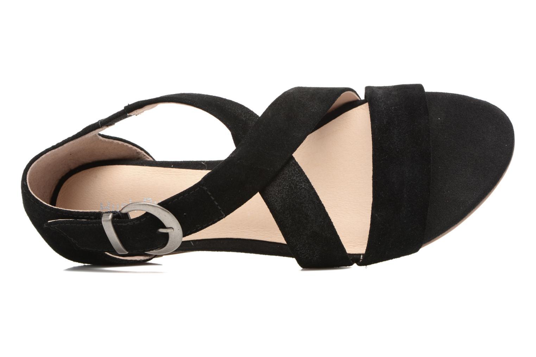 Sandales et nu-pieds Hush Puppies Kaly Noir vue gauche